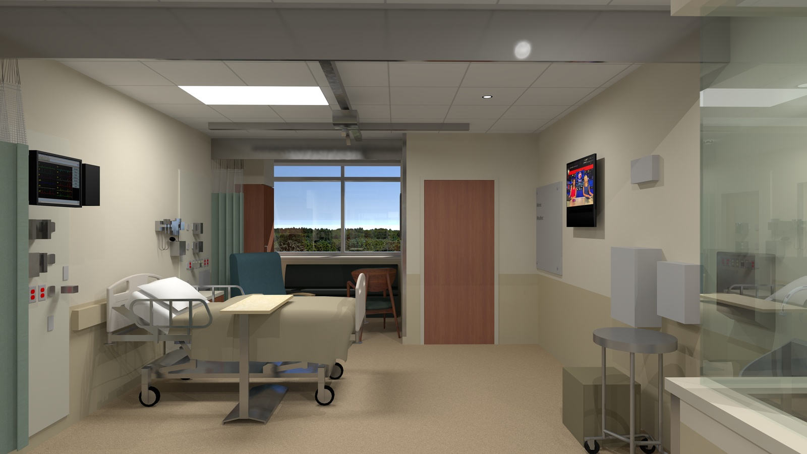 South Shore MA   South Shore Hospital Expansion And Renovation. Still From  Animation   ICU Patient Room. Location: South Shore, MA Project Designer:  ...